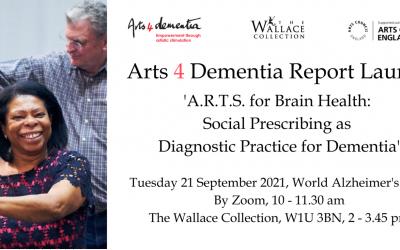 Arts for Dementia social prescribing report launch, 21st September